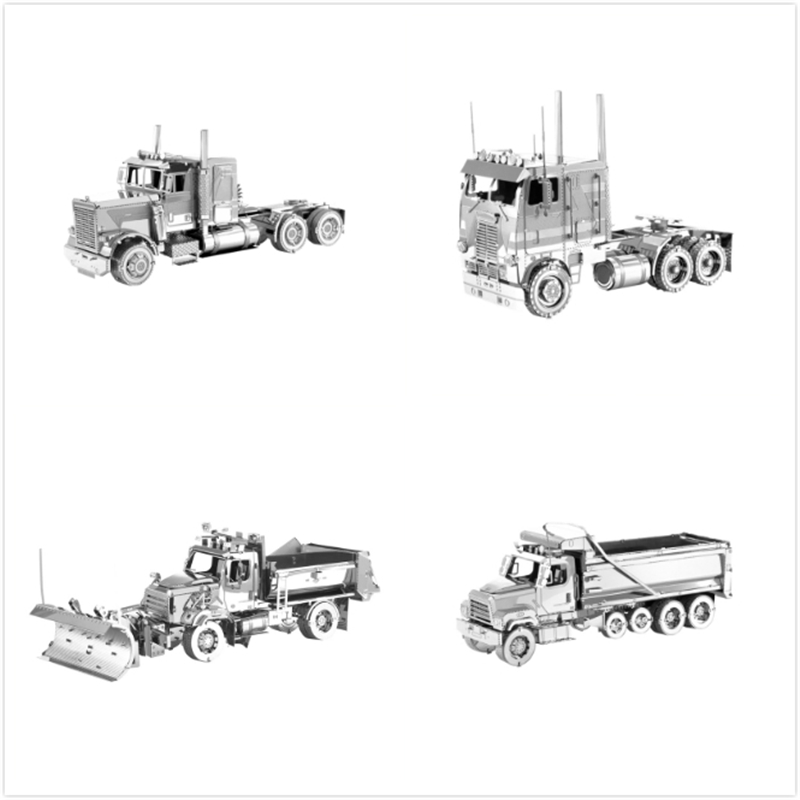 New FLC Long Nose COE 114SD Dump Truck 3D Metal Puzzles