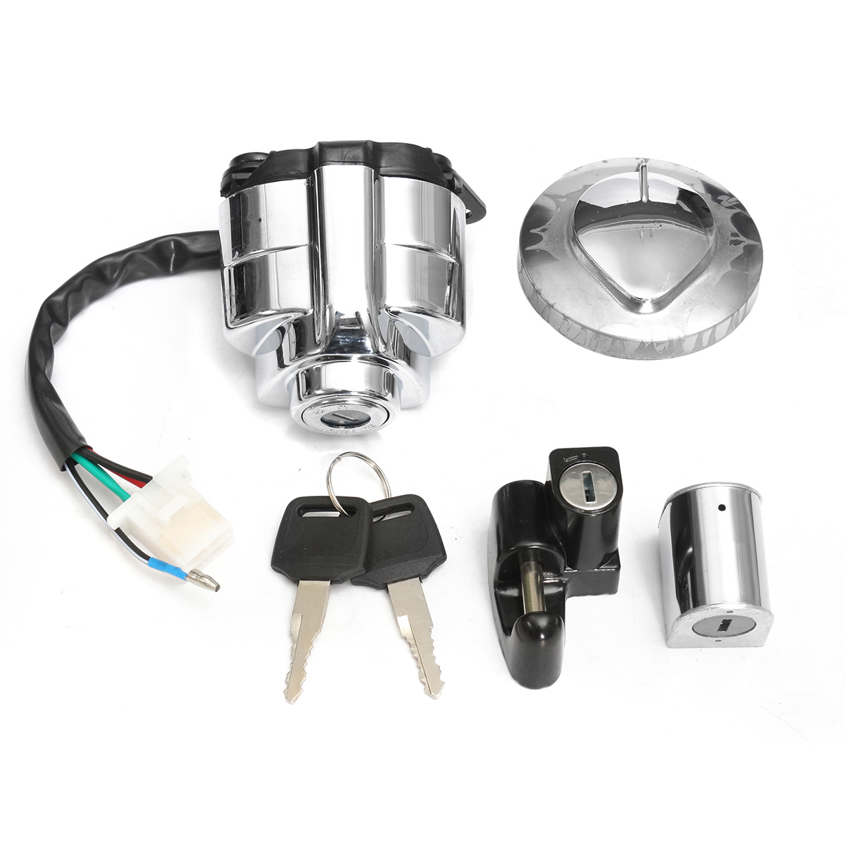 1 Set Aluminium Zündung Gas Kappe Helm Lenkung Lock Set für Honda Shadow VLX VT 400 600 750