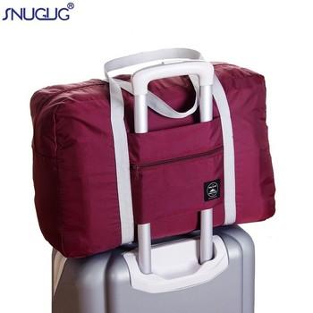 Nylonowe składane torby podróżne torebki wodoodporne torby dla biznesu i podróży duża pojemność torby na ramię torba na ramię tanie i dobre opinie SNUGUG Wszechstronny 16inch 48inch zipper Podróż skrzynki 0 17kg HZ-A17091 SOFT Moda 32inch W paski WOMEN Nylon Foldable Travel Bags
