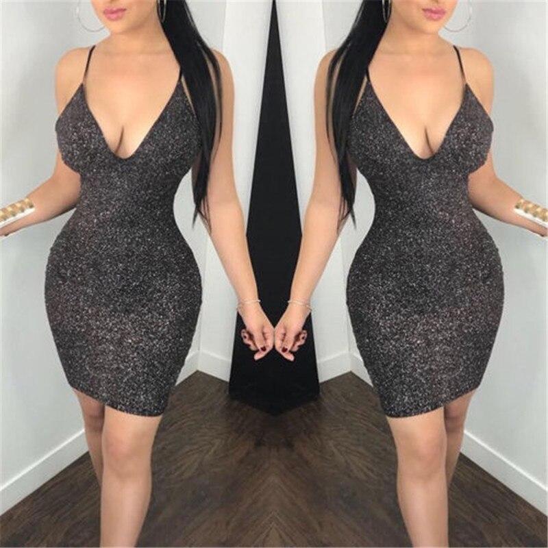 Сексуальное Клубное платье без рукавов с открытой спиной Vestido женское сексуальное металлическое облегающее блестящее вечернее Клубное пла...