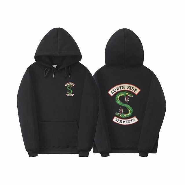 Riverdale Serpents Hoodie Men Women South Side Riverdale Southside Boys Girls Oversize Sweatshirts Pullover Hoodies Streetwear