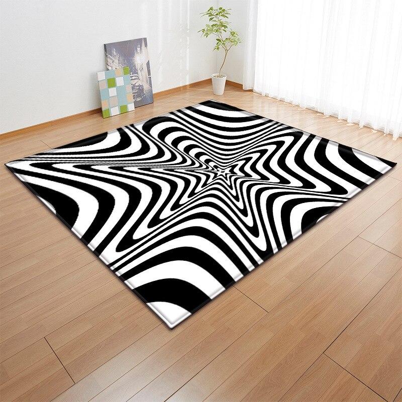Noir et blanc correspondant tapis enfants chambre jouer tapis flanelle mémoire mousse petits tapis maison grands tapis pour salon décoratif