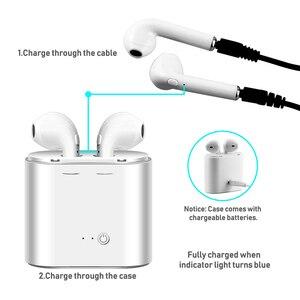 Image 5 - ロシア在庫で tws 耳 bluetooth I7 I7s ミニワイヤレスイヤホン音楽インナーイヤーステレオヘッドセット iphone × 7 8 サムスン xiaomi