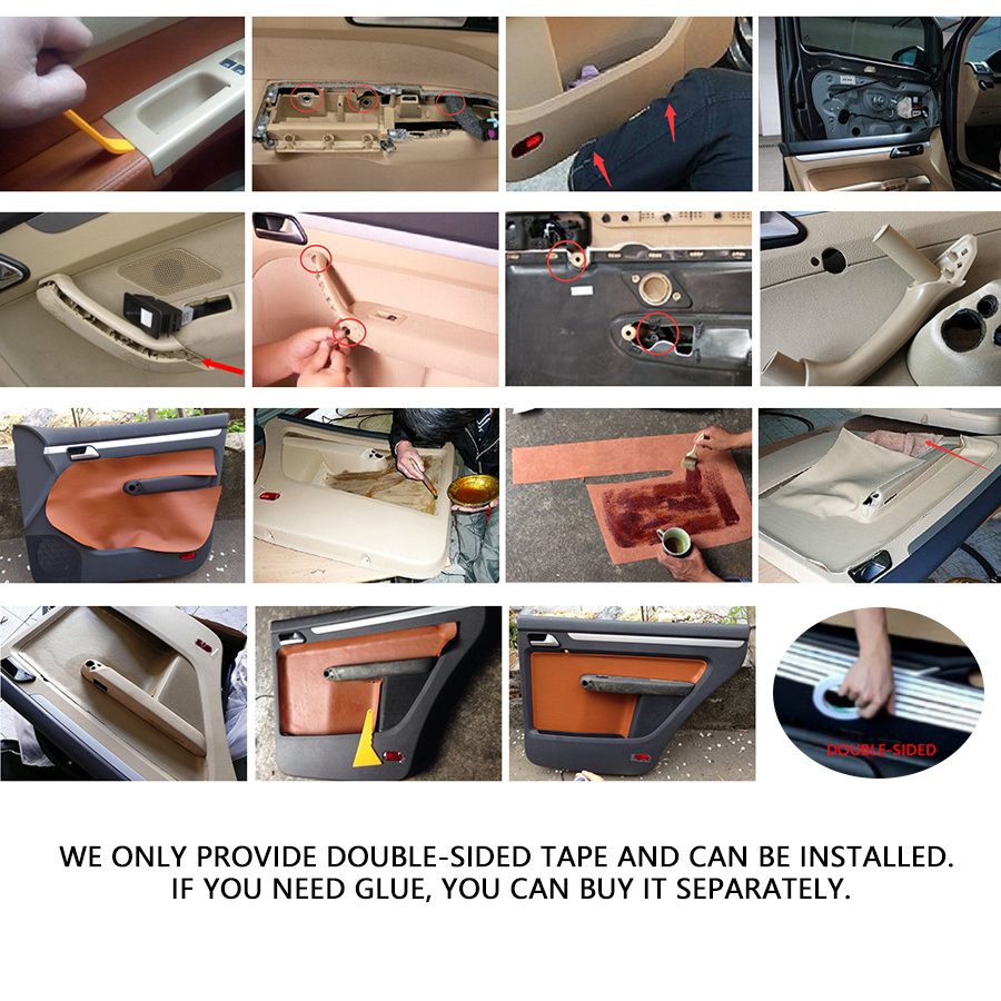 For VW Touran 2006 2007 2008 2009 2010 2011 2012 2015 4pcs Microfiber Leather Door Panel Door Armrest Cover Protective Trim in Armrests from Automobiles Motorcycles