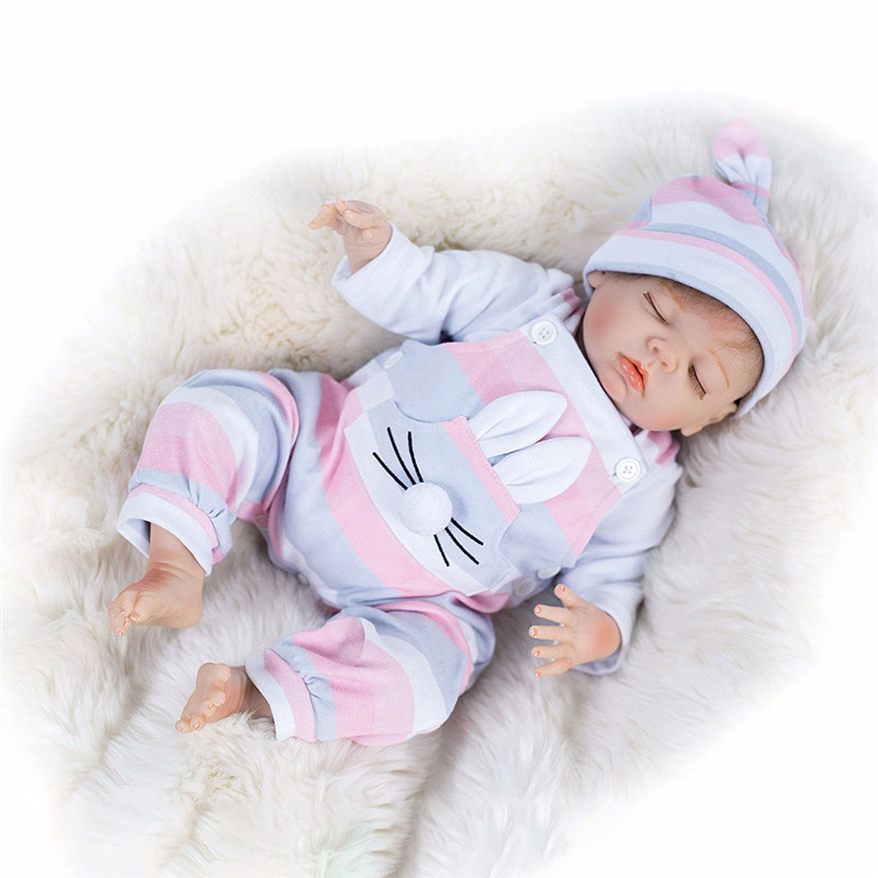 """18/"""" 45cm Real Life Like Reborn Baby Doll Realistic Looking Newborn Dolls Toddler"""