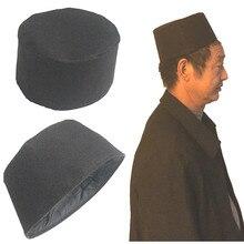 8dd3dfd43e0ea Customized Black Cotton Mens Islamic Muslim Prayer Hats Kufi Skull Cap  Beanie Egyptian Khanqahi Turkish Caps