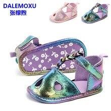 DALEMOXU Shining Newborn Kid Baby Girl Gradient shoes Summer Sandals Casual Crib Shoes PU Prewalker Toddler