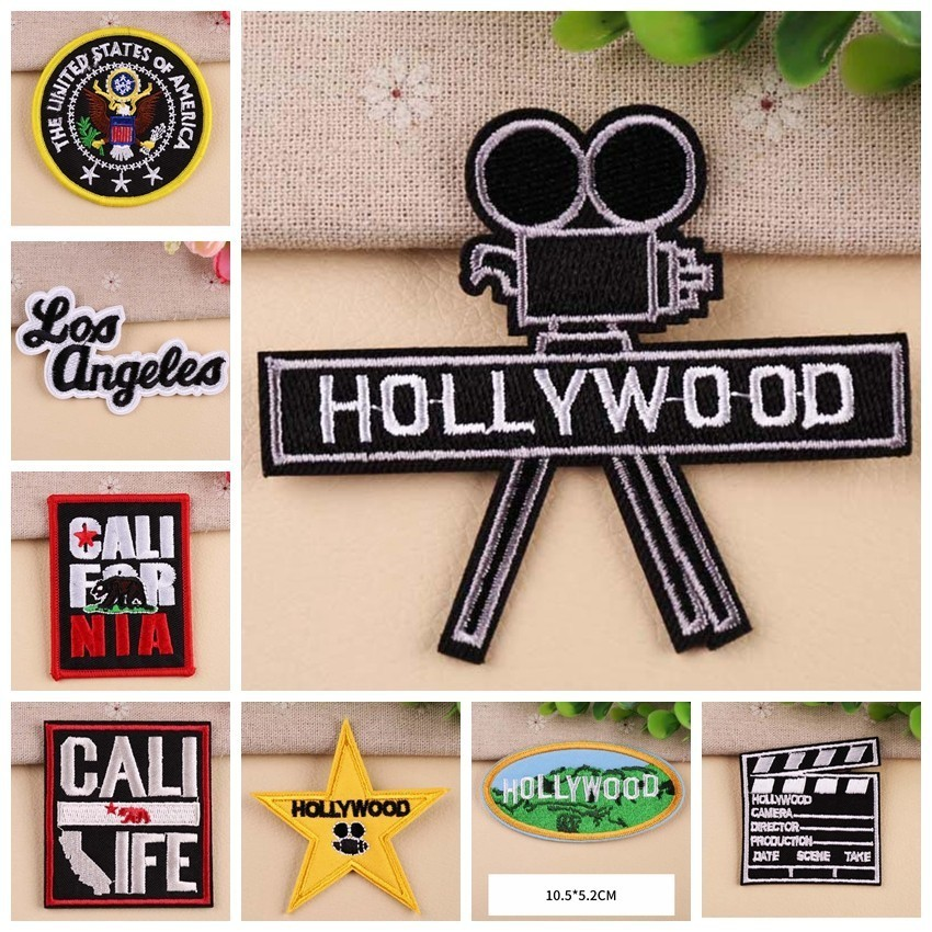 Photographic Frame Patches Log board Clothes Patch Star Iron On Embroidery Patches Applique Motifs Letter Garment Stickers in Patches from Home Garden