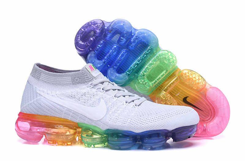 07d16a83a04ba Classic Women 2018 Nike Air VaporMax Flyknit 1.0 Fabric Socks Running Shoes  Female Cushion Jogging Sneakers