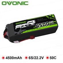 Ovoic 4500mAh 22,2 V Lipo 6S 50C 100C Lipo аккумулятор T и XT60 Разъем для RC автомобиля Большой размер вертолет Quad беспилотный самолет