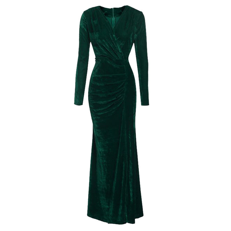 6d3c75bf9a1965 oothandel red velvet long sleeve dress Gallerij - Koop Goedkope red velvet  long sleeve dress Loten op Aliexpress.com
