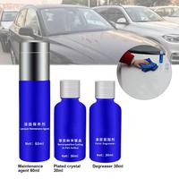 NEW Style 3pcs Car Paint Coating Agent Spray Polish Degreasing Maintenance Kit Nano Inorganic Plating Crystal