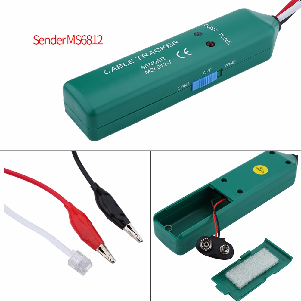 Fault find LAN Network and power wiring Cable Tracker MS6812