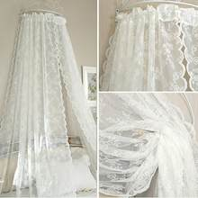 Lace Curtains Voile Tulle Curtains Panel Leaf for Living Room 145*180 Door Window Sheer Curtain Insect Bed Canopy Netting Drape(China)