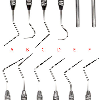 6pcs Dental Stainless Steel Periodontal probe with Scaler Explorer Instrument Tool Endodontic Scaler Dental Tool Kit new 16 hole dental scaler tip disinfection box dental stainless steel working tip holder box dental instrument multifunction
