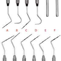 6pcs Dental Stainless Steel Periodontal probe with Scaler Explorer Instrument Tool Endodontic Scaler Dental Tool Kit