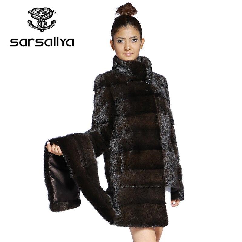 Real Fur Coat Mink Women Winter Natural Fur Mink Coats And Jackets Female Long Warm Vintage