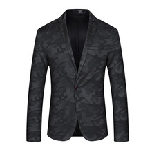 Luogen Drop Shippping 2019 Spring Casual Blazer Masculino Jacket Mens Blazers Men Jackets Coat Plus-size Veste Costume Homme