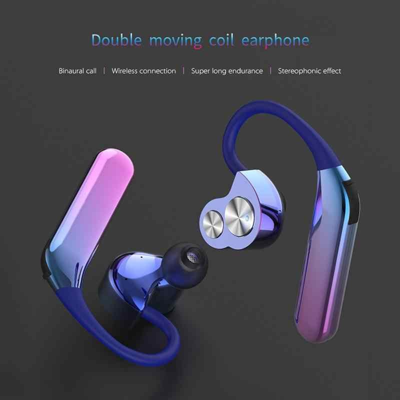 3201e183f44 ... New X6 Aurora Wireless Bluetooth 5.0 Headset With Microphone TWS Stereo  Sport IP7 Waterproof Headphones Noise ...