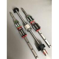 HGR20 Square Linear guide rail 6 set HGR20 400 860 1240mm +HGH or HGW20 SFU1605 350 800 1120 1120mm ballscrew + CNC parts