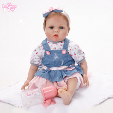 Bebe doll reborn 55cm Reborn Baby Doll Silicone Newborn Baby Doll Vinyl Princess Girl Toys Play House lovely Lifelike lol doll купить недорого в Москве