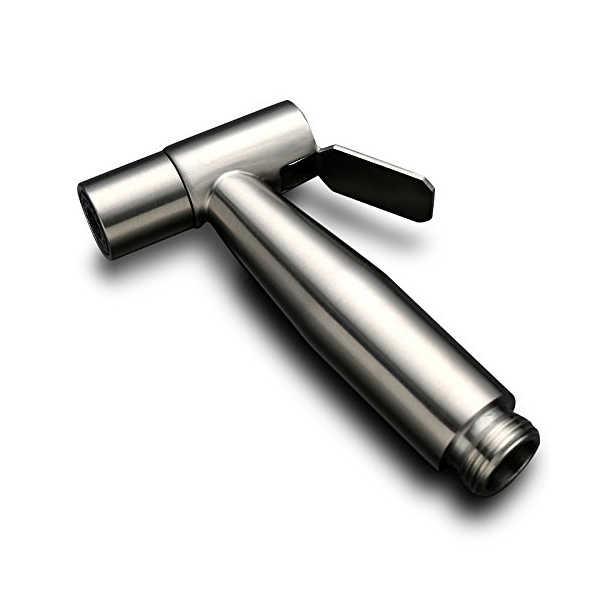 Stainless Steel Genggam Higienis Shower Portable Bidet Sprayer Gun Kursi Toilet Kloset Duduk Rumah Tangan Diadakan Semprot Toilet Bidet Tekan