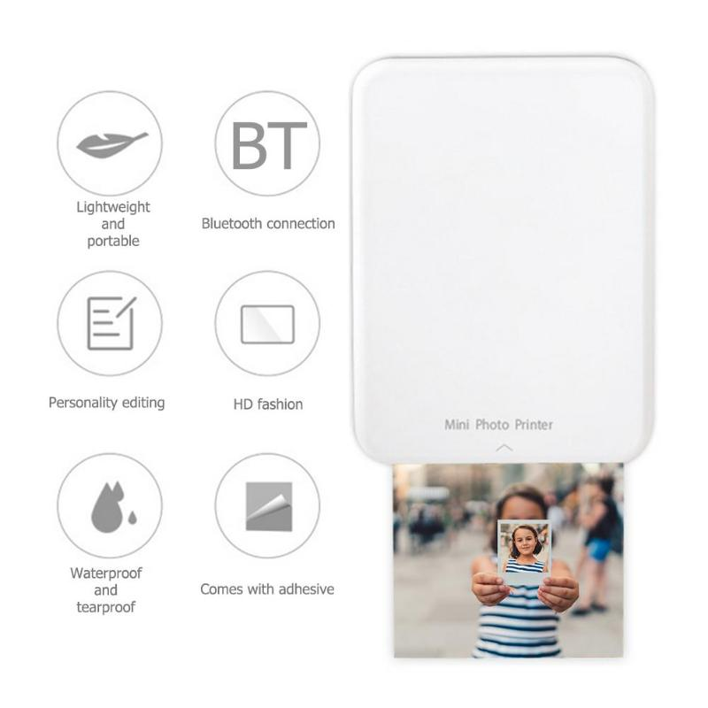 Draagbare Thermische Bluetooth Printer Mini Draadloze Pos Thermische Picture Photo Printer Voor Android Ios Mobiele Telefoon Knappe Verschijning