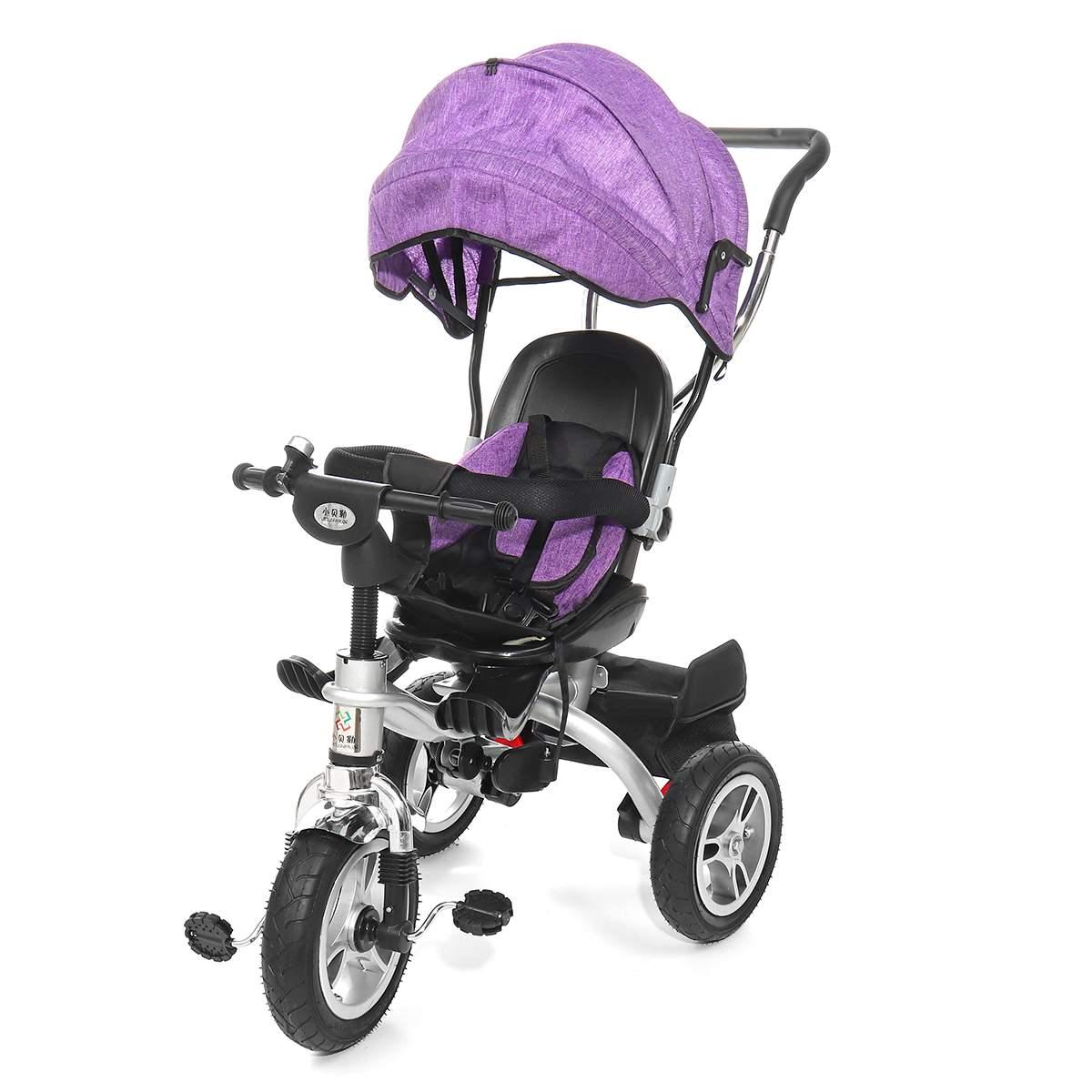 4 en 1 bébé enfants inverse enfant en bas âge Tricycle vélo Trike Ride-On jouets poussette landau trois roues poussette activité de plein air