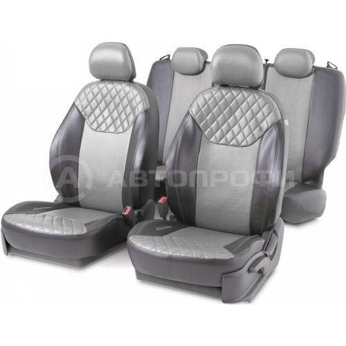 Cushion Cover Автопрофи DIN-1505GF BK/D. GY-80 DINAMICA, ekokozha, 15 предм, pocket, 6 zippers, AIRBAG, чёр/etc. gray braid автопрофи sam 200 gy 80 m genuine leather thread needle gray