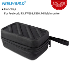 Feelworld Bolso de mano portátil para Monitor de cámara F5 FW568 F570 F6, equipo fotográfico negro, Estuche de transporte para Monitor