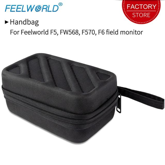 Feelworld ポータブルハンドバッグ F5 FW568 F570 F6 フィールドカメラモニターブラック写真機器用のキャリングケースモニター