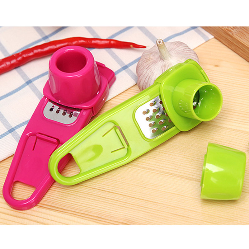 Candy Color Kitchen Accessories Plastic Ginger Garlic Grinding Tool Magic Silicone Peeler Slicer Cutter Grater Planer|Garlic Presses|   - AliExpress