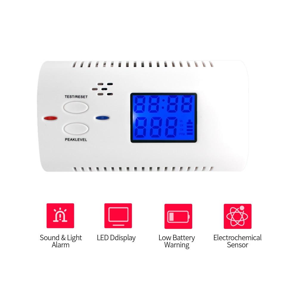 Brandschutz Rauchmelder Gut Batterie Betrieben Smart Kohlenmonoxid-detektor Co Gas Sensor Alarm Mit Menschliche Stimme Aufforderung Led Blinkt Warnung Zeit Display