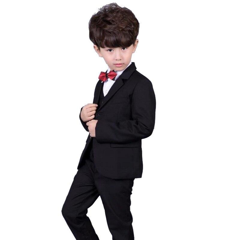 2158ecd776be Trend 2017 formal clothing suits for boys shirt vest pants tie 4 pcs ...