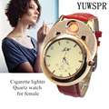 Зажигалка для сигарет  женские часы с usb-зарядкой  ветрозащитные  беспламенные  креативные  экологические  женские кварцевые часы  подарок ...