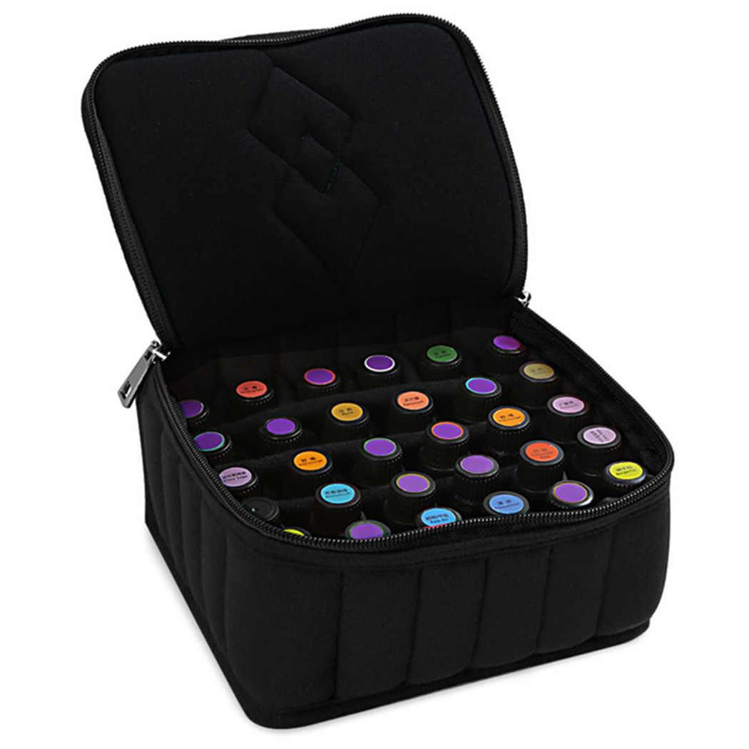 חיוני שמן תיק נשיאה 30 בקבוקים נייד עמיד הלם חיוני שמן מקרה ארגונית קופסא לאחסון מכולות ארון