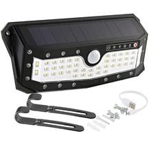 ARILUX? Solar Power USB Rechargeable Waterproof Garden Solar Light 57 LED PIR Motion Sensor Wall Light Outdoor Garden 4 Modes