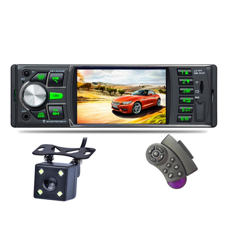 4.0 Inch Car FM Radio MP5 Player High-definition LCD Display Car Audio MP3 Player with 7 Color Backlight IR Rear View Camera