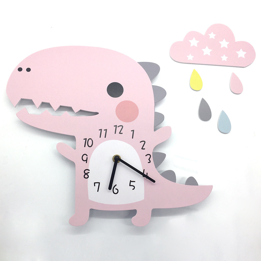 3D Animal Wall Clock Dinosaur Pattern Design Decoration For Home Bedroom Vintage Home Wall Decor Wall Clock For Kids Room