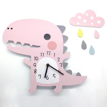 3D настенные часы с животными с рисунком динозавра, дизайнерское украшение для дома, спальни, винтажный домашний Настенный декор, настенные часы для детской комнаты