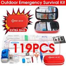 Apteczka duża apteczka samochodowa duży zestaw ratunkowy na zewnątrz torba podróżna Camping Survival zestawy medyczne małe pudełko gospodarstwa domowego