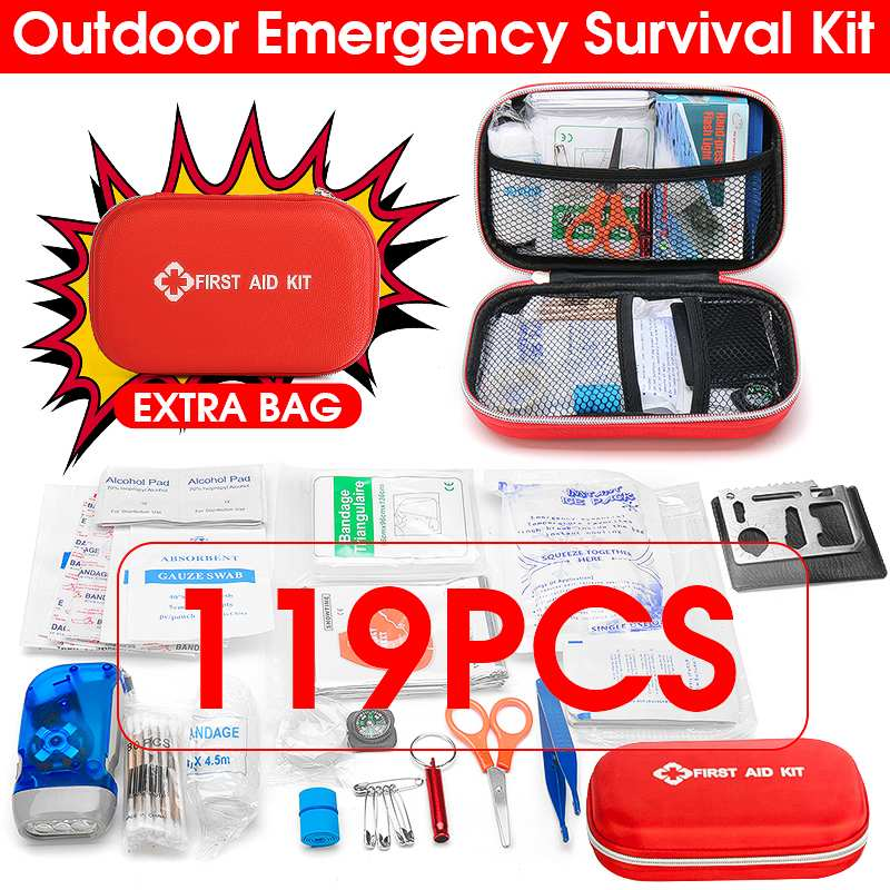 First Aid Kit Big Car First Aid kit Large Outdoor Emergency Kit Bag Travel Camping Survival Medical kits Household Small BoxFirst Aid Kit Big Car First Aid kit Large Outdoor Emergency Kit Bag Travel Camping Survival Medical kits Household Small Box