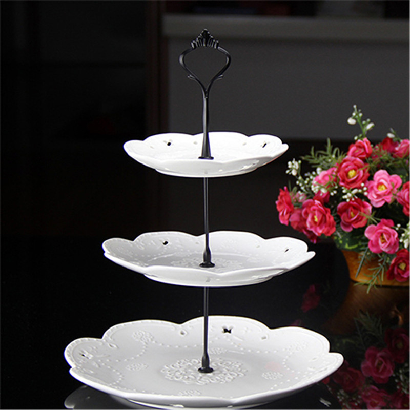 1 Set 2 Or 3 Tiers Sweets Candy Cupcake Tray Wedding Party Cake Display Stand  Zinc Alloy Golden Tone Cake Stand