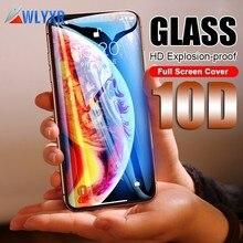 10D Защитное стекло для экрана для iPhone 7 6 6s 8 Plus 9H полное покрытие защитное закаленное стекло на iPhone X XR XS Max чехол