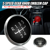 Car Styling 5 Speed Gear Knob Emblem Cap Covers for Volkswagen Transporter T5 T5.1 Gp