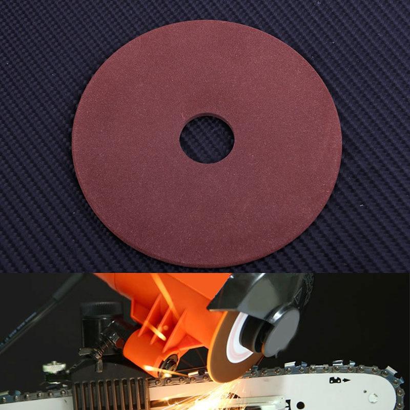 10.5*3.2*22mm Round Sandpaper Grinding Wheel Disc For Chainsaw Sharpener Grinder 325 Pitch 3/8'' Chain