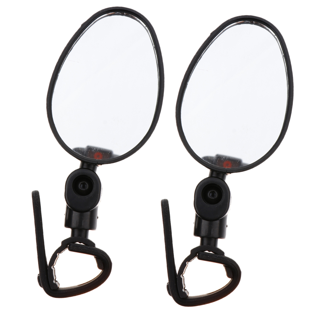 2PCS Bike Bicycle Mirror Glass  MTB Cycling Rear View Handlebar End Rear Back US