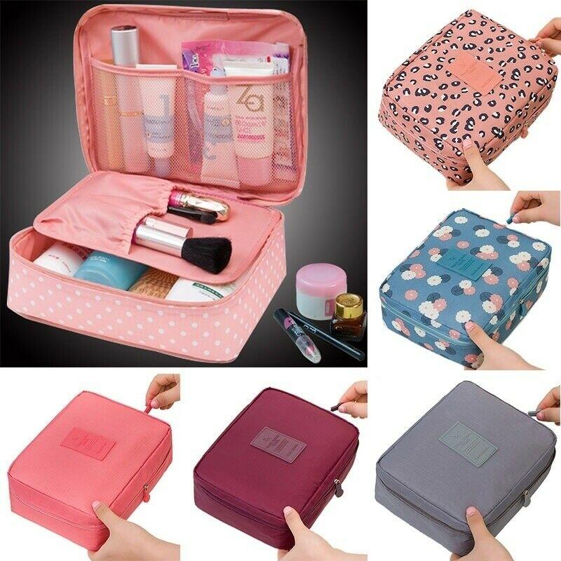 2019 HOT Women's Fashion Cosmetic Bag Travel Scalable Print Large Capacity Handbag