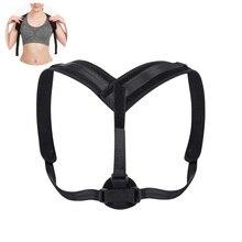 Corrector de postura apoyo cinturón ajustable clavícula la parte superior  de la espalda de la columna vertebral postura de senta. bd45dd9bf23a
