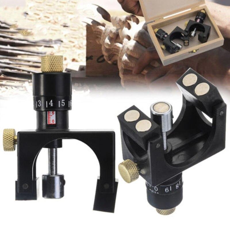 2 stücke Magnetische Hobel Klinge Kalibratoren Messer Jointer Einstellung Jig Gauge Holzbearbeitung Setter Werkzeug mit Holz Box